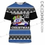 USPS Christmas It's beginning to look a lot like USPS postal service blue unisex t-shirt 3d
