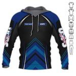 USPS Simple Custom Name AOP T-shirt Hoodie Zip up