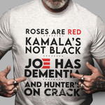 Roses are red Kamala's not black Unisex T-Shirt 2D #KV