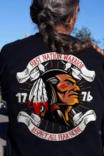 Native American First Nation Warrior T-Shirt 2D #KV