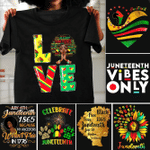 Proud Juneteenth day gift Unisex T-Shirt 2D #KV