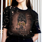 Skull but did you die Bleached T-Shirt 2D #KV