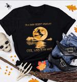 Witch broom on the dark desert highway cool wind in my hair Unisex T-shirt 2D #KV