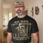 Soldier Veteran No Man Left Behind Unisex T-Shirt 2D #KV