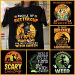 Witch Halloween Buckle up Butter cup Unisex T-Shirt 2D #KV