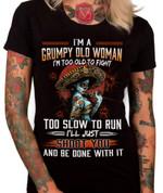 Tattoo girl Im a grumpy old woman Unisex T-Shirt 2D #KV