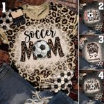 Soccer mama Leopard Bleached T-Shirt 2D #KV