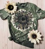 Sunflower leopard Bleached T-Shirt 2D #KV