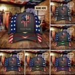 American Punisher Skull Stars Multicolor Custom Name Classic Cap Head Wear