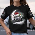 Jeep Crescent Moon Christmas AOP T-shirt Hoodie Zip up Leggings