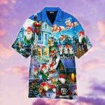 Hawaiian Aloha Shirts Funny Gnome Santa On Christmas