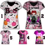 Halloween Breast Cancer Awareness  AOP T-shirt Hoodie Zip up #KV