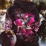 Eagle Breast Cancer Stronger AOP T-shirt Hoodie Zip up Leggings