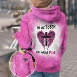 I Wear Pink For Myself AOP T-shirt Hoodie Zip up