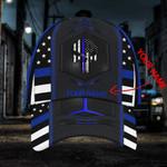 Custom name blue line American Police skull classic cap hats head wear