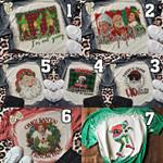 Christmas Bleached T-Shirt 2D #KV