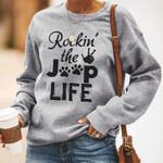 Rockin' the Jeep life - Jeep girl love dog gray sweater