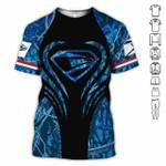 Awesome USPS postal worker super man blue camo unisex t-shirt 3d