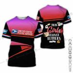 This girl deliver letters USPS postal worker pink unisex t-shirt 3d