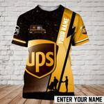 Custom name galaxy UPS parcel worker hard working unisex t-shirt 3d