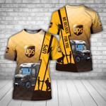 Custom name UPS parcel service truck we deliver for you unisex t-shirt 3d