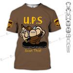 Scan this UPS United parcel service unisex t-shirt 3d