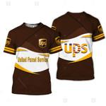 UPS United parcel service brown white unisex t-shirt 3d
