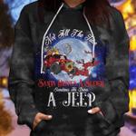 Sometimes he drives a Jeep Santa Christmas Hoodie - Legging 3D