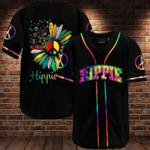 Hippie soul rainbow tie dye sunflower Baseball jersey