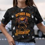 October Girl Trick or Treat Halloween AOP T-Shirt #Lk