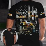 Jeep Always take the scenic route Unisex AOP T-Shirt 3D #KV