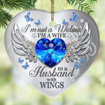Butterfly My Husband Has Wings Christmas Ornament #KV