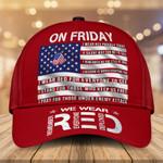 Veteran On Friday We Wear Red Classic Cap Head Wear #KV