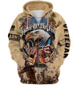 US Arrmy Veteran Home Of The Free Because Of The Brave hoodie 3d #KV