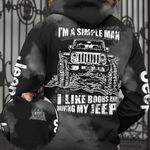I'm A Simple Man I Like Boobs And Driving My Jeep hoodie 3d #KV