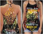 Nevermind Witch Beware Of The Black Cat Halloween Cross Tank Top 3D #Kv