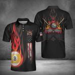 Flame 9 Billiard Pool Polo Shirt #Dh