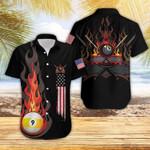 Flame 9 Ball Billiard Hawaiian Shirts #Dh