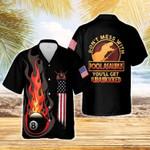 Dinosaur Flame Billiards Hawaiian Aloha Shirts #DH