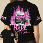 Jeep Christmas hope for a cure breast cancer awareness pink black unisex t-shirt 3d