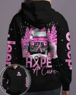 Jeep Christmas hope for a cure breast cancer awareness pink black Hoodie - Legging 3D