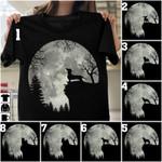Dogs And Moon Halloween Unisex T-Shirt #KV