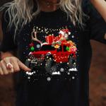 Jeep Merry Christmas black unisex t-shirt