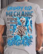 Grumpy Old Mechanic stuck between idk idc and idgaf Unisex T-Shirt #KV