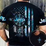 Jeep Compass Hologram Flag AOP T-shirt Hoodie Zip up