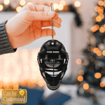 Hockey Helmet custom name 2 Hanging Ornament #KV
