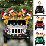 Duck duck Jeep Duckies Christmas custom name Hanging Ornament #KV
