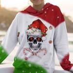 Skull Christmas Colors AOP T-shirt Hoodie Zip up Leggings
