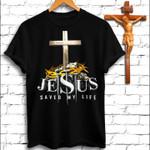 Jesus saved my life black unisex t-shirt