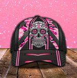 Skull Camo Breast Cancer Classic Cap Head Wear #KV